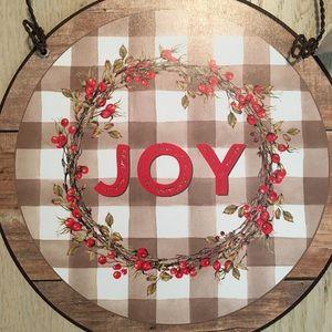 "BNWT ""JOY"" Metal Sign Home Decor w/ Metal hanger"